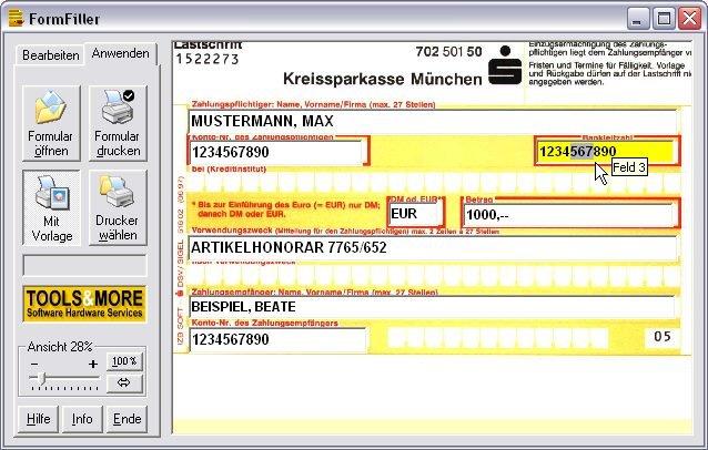 Screenshot für Formfiller