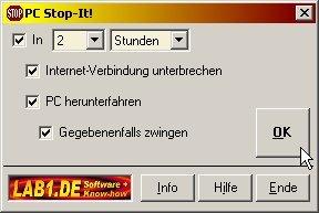 Screenshot für PC-Stop-it